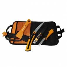 Fskars комплект Брадва X5 + Телескопичен трион + Универсален нож с вградено точило + Безплатна доставка